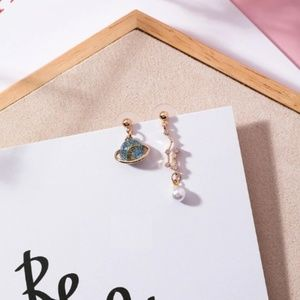 NEW Unique Style Pearl Earth Handmade Earrings